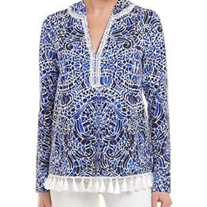 Lilly Pulitzer Harmon hoodie Taverna Tile Allover